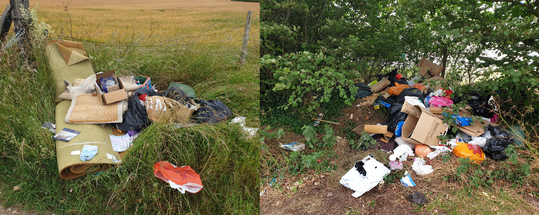 Man ordered to carry out 120 hours unpaid work after pleading guilty to two fly-tips